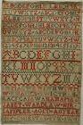 EARLY 19TH CENTURY SCOTTISH? ALPHABET SAMPLER BY JANET WARDLAW AGED 11 - 1815