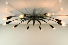 Sputnik Decken Leuchte Messing Lampe Lochblech Mategot Stil 50er Jahre