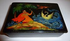"Palekh Russian Lacquer Box Gvidon ""The Tale of the Tsar Saltan"" Sokolova"