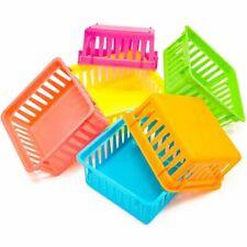 12Pcs 6 Colors Plastic Pen & Pencil Baskets Tray for Classroom Organizer Storage