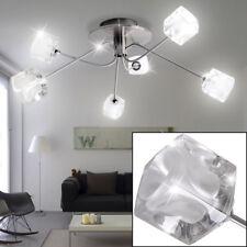 Luxury Ceiling Lamp Living Dinner Room Light Glass Dice Spotlight Satin Clear