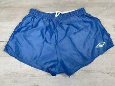 "Umbro Vintage 80's High Cut Silky Shiny Nylon Shorts, Sz 34-36"" Inch waist"