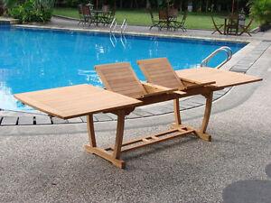 "94"" Masc Rectangle Extn Table A Grade Teak Wood Outdoor Dining Patio Furniture"