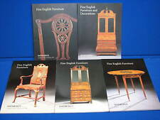 5 Sotheby's London New York 1997 Fine English Furniture Art Catalogs LOT Chairs