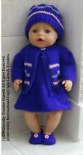 "Dolls Clothes Hand Knit Pattern ""Mandy"" Baby Born and other 16-18"" Dolls Mpn270"