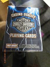 Harley Davidson Blue Lightning Playing Cards