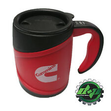 Cummins diesel insulated coffee cup mug thermos red black hot cold 12 oz