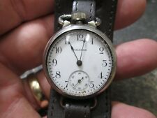 WWI US MILITARY WALTHAM DEPOLLIER DATED 1915 CASE RUNNING WRIST WATCH