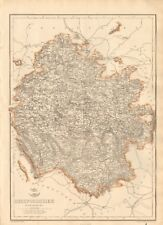 1863 Large Antique Map - Dispatch Atlas- Herefordshire