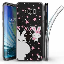 For Samsung Galaxy S8 Plus,Tri Max Transparent Full Body Case Cover LOVE BUNNY