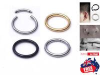 Surgical Steel Segment Hoop Ring Septum Captive Helix Nose Ear Lip Piercing 1pc