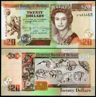 BELIZE 20 DOLLARS 2017 P 69 f UNC