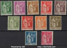 FRANCE SERIE TYPE PAIX N° 280/289 NEUF ** SANS CHARNIERE