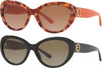 Tory Burch Women's Oval Cat Eye Sunglasses w/ Gradient Lens - TY7136