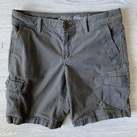 Eddie Bauer Cargo Shorts Womens Size 2 gray