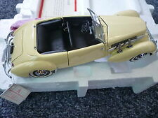 FRANKLIN MINT Diecast 1:24 1937 Cord 812 Phaeton Coupe Mint in Box with COA
