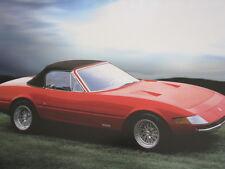 Poster Ferrari 365 GTB/4 Spider 1971