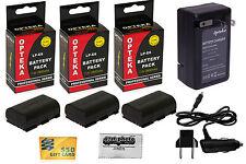 3x LP-E6 2600 mAh Akku + Schnell Reiseladegerät Für Canon EOS 6D 60D 60Da DSLR