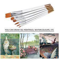 6Pcs Art Painting Brushes Set Acrylic Oil Watercolor Artist Paint Brushes Dulcet