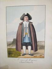 Mallorca.Paysano de Mallorca.Giscard 1823.Litografia con color original