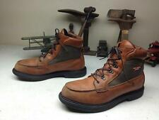 BROWN LEATHER RED WING DISTRESSED LEATHER ENGINEER LACE UP PACKER  BOOTS 13 D