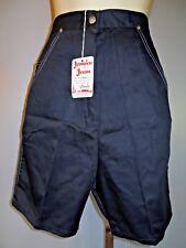 Nos Black Jamaica Jeans 1950s Western High Waist Rockabilly Shorts Pant Vintage