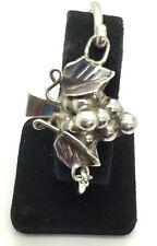 Vintage Oxidized Sterling Silver 925 Grape Leaf Vine Cuff Bracelet