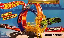 Hot Wheels Bahn FKV69 Action Energy Trackset Looping Spielset inkl. 3 Autos