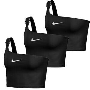 Nike Womens Single Stripes Crop Tank Tops Bra Cropped Tank Top Vest NSW Swoosh