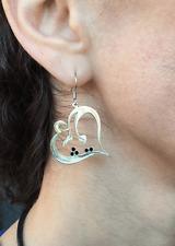 eshgh Earring ghalb 925K STERLING SILVER Persian jewelry