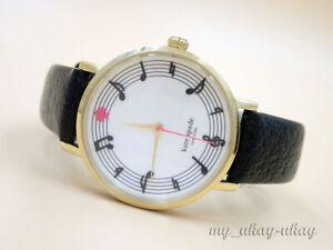 KATE SPADE 0493 White Dial Black Leather Band Ladies  Dress Watch