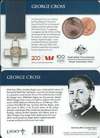 2017 Legends of the Anzacs Collection 25 cent George Cross Carded Coin