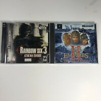 Age of Empires 2 II Age Of Kings Vtg (PC, 1999) & Rainbow Six 3 Athena Sword Lot
