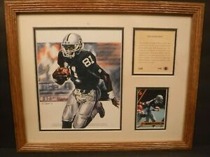 1993 Original Kelly Russell Studios Lithograph Of Tim Brown Silver & Black Speed