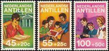 Antille OLANDESI 1984 fondo previdenziale figlio/Libri/Lettura/Chiesa 3 V Set n25056