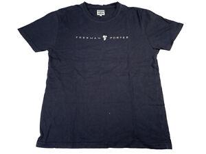 Freeman T. Porter Herren T-Shirt Gr L Schwarz Basic Logo Print Kurzarm Rundhals