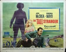 Tall Stranger, 1957, Joel McCrea, Original Half Sheet, Style B  (22x28)