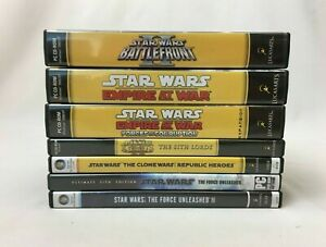 LOT OF 7 Star Wars Video Games for PC - Battlefront Empire KotOR Clone Force