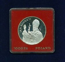 """POLAND  1982  1,000 ZLOTYCH  """"POPE JOHN PAUL II """"  GEM CAMEO PROOF SILVER COIN"""