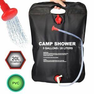 Camping dusche 20L Solardusche Tasche Tragbare Solar Gartendusche Reisedusche DE