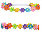 Pretty Baby Child Girl Colorful Flowers Hair band Lace Sunflower Band Headband