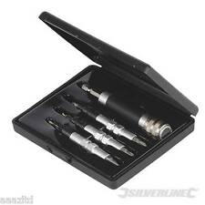 4 PIECE Quick Flip Set Drill Countersink Screw Drivers Bits + CASE + WARRANTY
