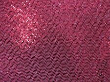 3 yards stretch spandex slinky soft silver lurex and burgandy sequin decoration