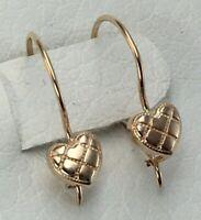 Delicate Vintage Original Rose Gold 585 14KT Earrings, Rose Gold 585 14 KT