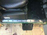 Defender Stainless steel FRONT door carpet retainer trims Fit Land Rover 90/110