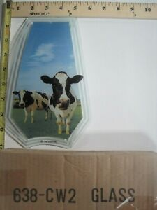 Ok Touch Lamp Replacement Glass Panel Up Close Cows in the Field 638-CW2