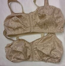 2 - Just My Size Beige Nude 42 DD Front Close Cushion Strap Bras - Style 1107