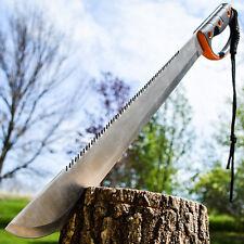 "24"" SURVIVAL HUNTING Sawback Military FULL TANG MACHETE Fixed Blade Knife SWORD"
