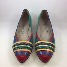 Vintage Thomas Cort Limited Multicolored Low Heel Pumps Size 5 Made in the Usa