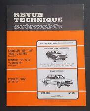 REVUE TECHNIQUE AUTOMOBILE RTA PEUGEOT 305 RENAULT 5 CHRYSLER 160 n°381